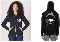 Hoody - BE NOBLE BLACK - S
