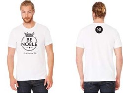 T-Shirt - White BE NOBLE